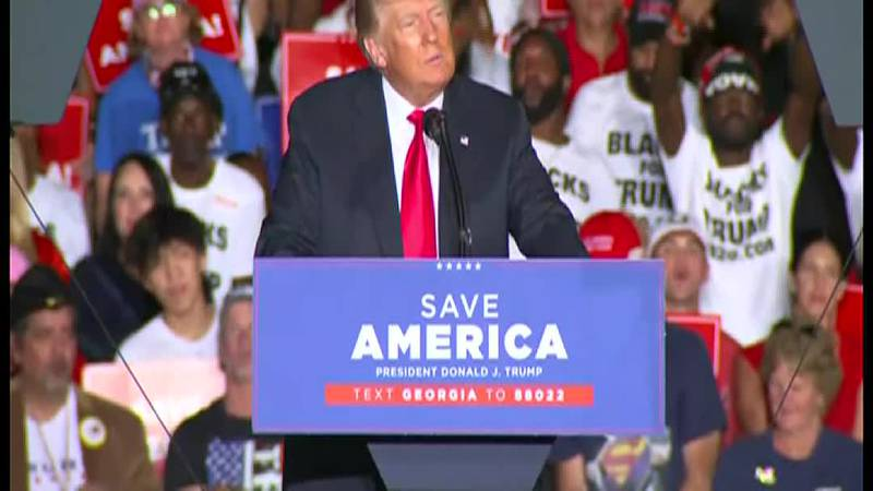 The rewards of an early Donald Trump endorsement were on display Saturday evening in Georgia.