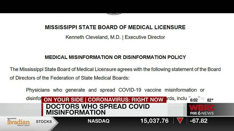 Doctors spreading misinformation