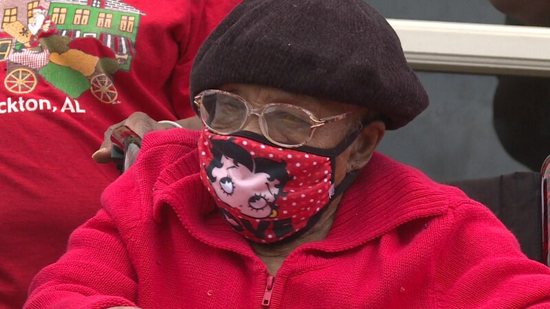Her family helped organize a drive-through birthday parade to mark the occasion.