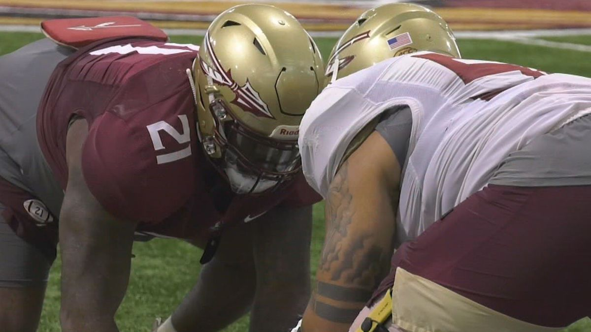Wednesday marked the first day Florida State hit the practice field in full pads.