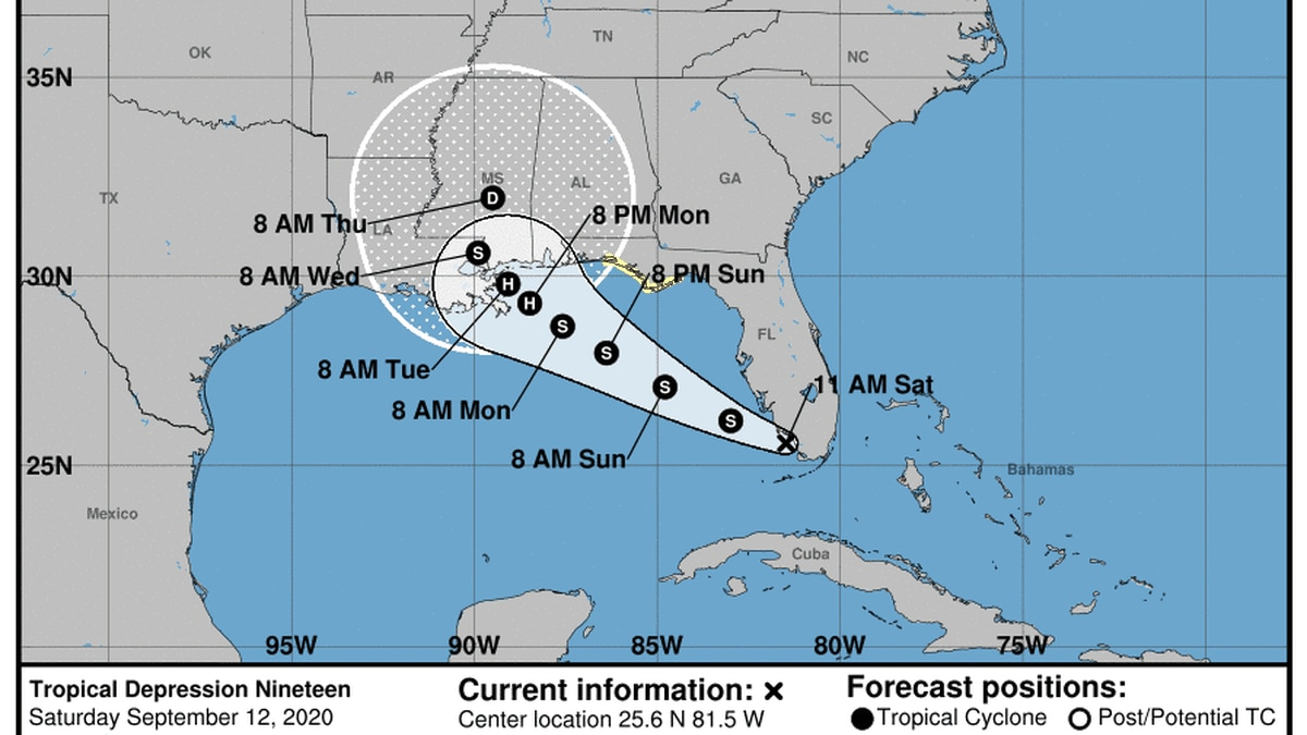 Tropical Storm Watch Issued for Florida panhandle.