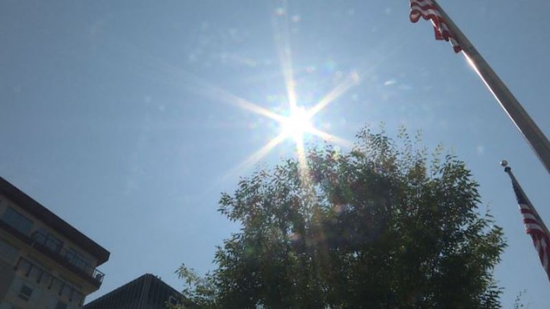 Sun beats down on Charleston on day seven of the ongoing heat wave.