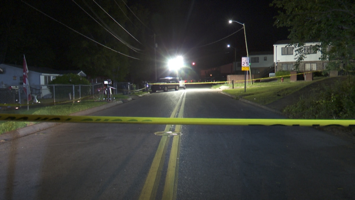 Crime tape marks the scene where a man was fatally shot in Dothan on April 29, 2021.