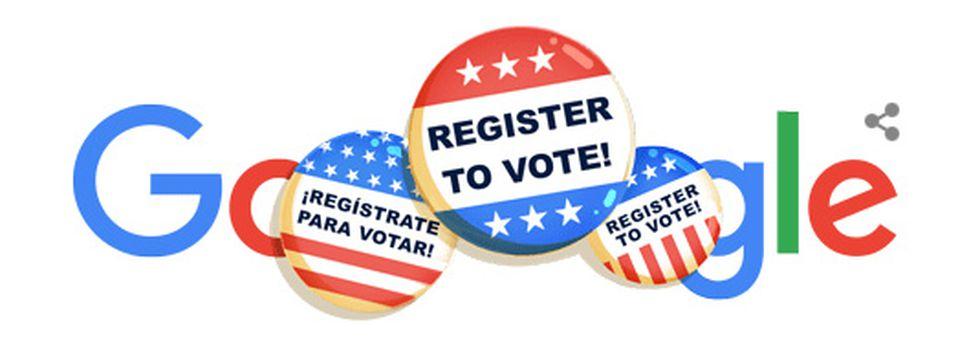 Google Doodle - National Voter Registration Day 2020